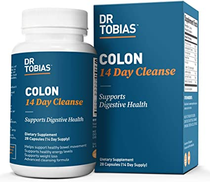 Amazon Com Dr Tobias Colon 14 Day Quick Cleanse Supports Detox Increased Energy Levels 28 Capsules Health Personal Care
