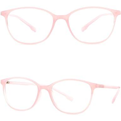 Amazon.com: Thin Light Women\'s Girls TR90 Flexible Plastic Frames ...