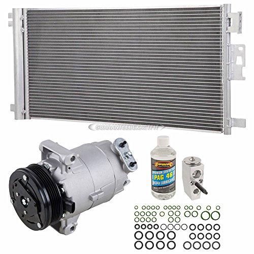 (A/C Kit w/AC Compressor Condenser & Drier For Chevy Malibu Pontiac G6 Saturn Aura 4-Cyl - BuyAutoParts 60-80511R6 New )