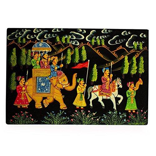 BestPysanky Indian Mughal King on Elephants Wooden Jewelry ()