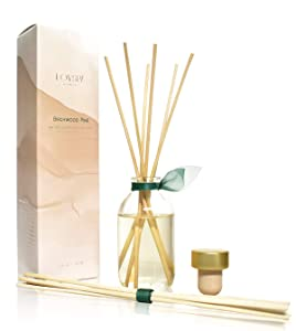 LOVSPA Birchwood Pine Reed Diffuser Sticks Set, Balsam Fir, White Pine and Amber Essential Oils | Aromatic, Long Lasting Diffusing Reeds, Scented Sticks Home Decor for Any Season, Great Gift Idea