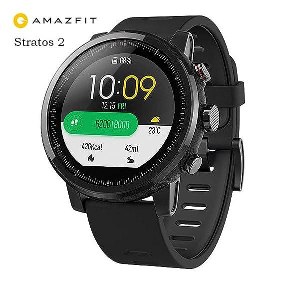 Amazfit Reloj Inteligente Xiaomi Amazfit Stratos 2 con GPS Versión Internacional Negro