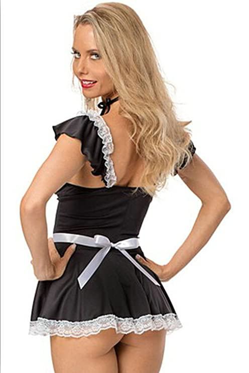 305609cafa2c53 Y-BOA Déguisement Costume Soubrette Secrétaire Robe Mini Lingerie ...
