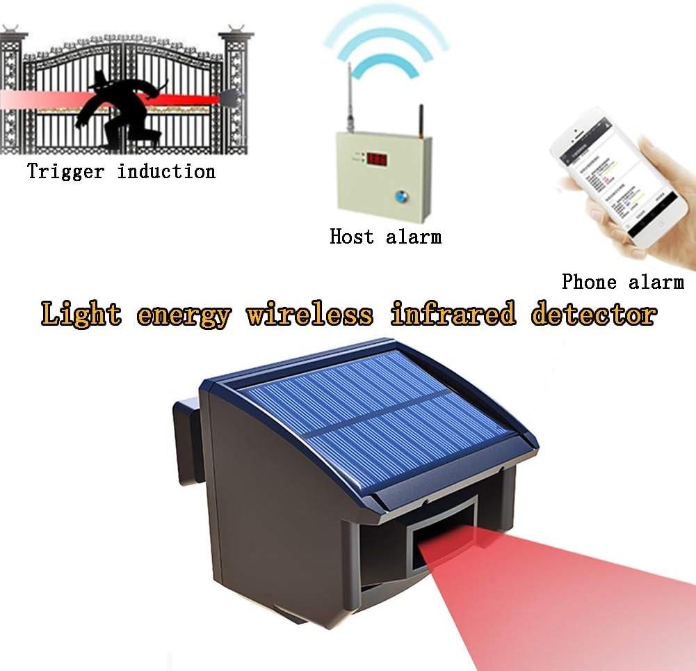 LiRongPing Alarma antirrobo de Infrarrojos al Aire Libre, Sistema de Alarma de Seguridad inalámbrico Remoto para estanques de Peces, huertos, Villas. (Color : 1 Infrared Detector)