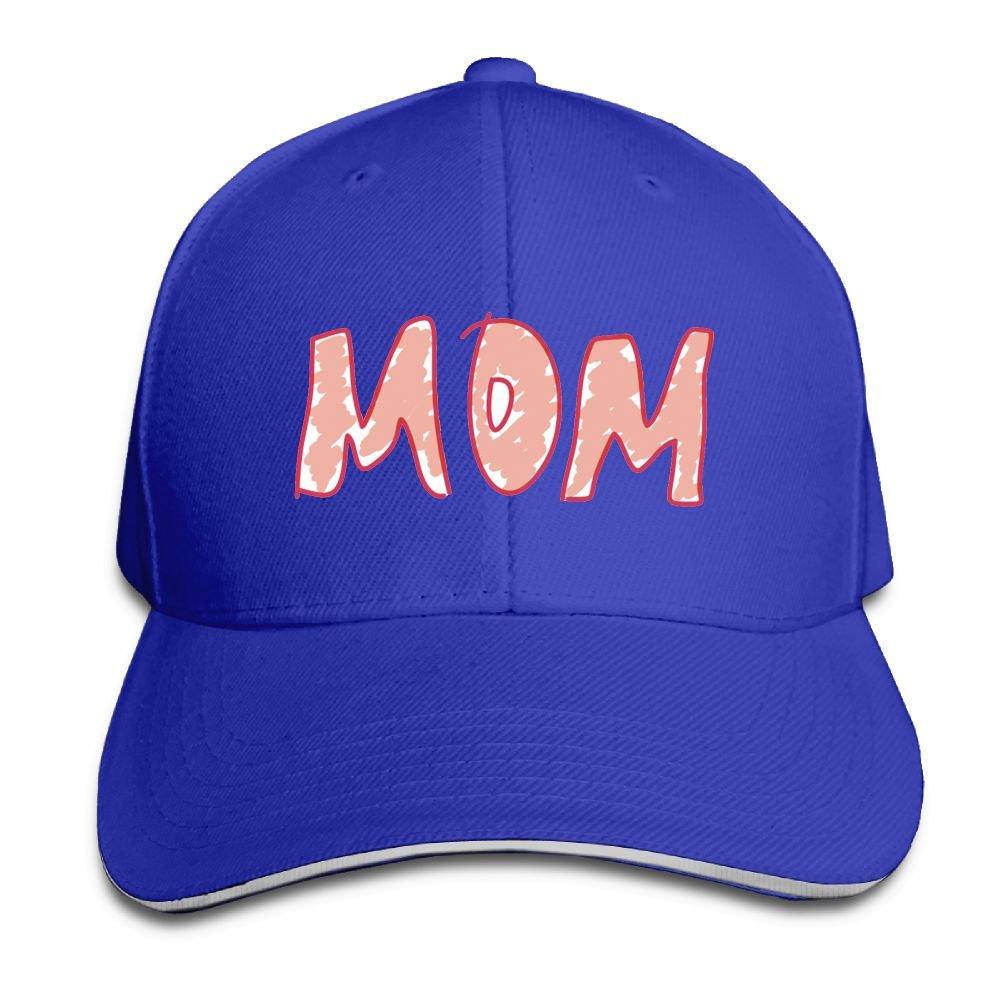 Thirdoone Unisex Mom Logo Sandwich Peak Dad Hat Lightweight Snapbacks Hat