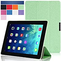 iPad Air 2 Case, i-Blason Apple iPad Air 2 Case 2014 [2nd Generation] Auto Wake/ Sleep Smart Case Leather Case (Elastic Hand Strap, Multi-Angle, Card Holder) With Bonus Stylus 3 Year Warranty from i-Blason