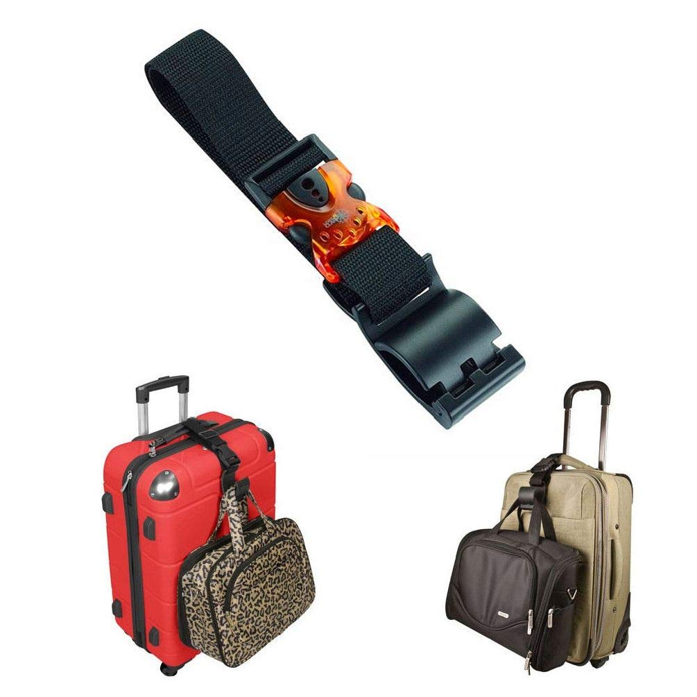 c3081ed64e Amazon.com  Chengshang Long Home Lewis N Clark Add A Bag Strap Durable Travel  Luggage Baggage Suitcase Strap Belt  Home   Kitchen