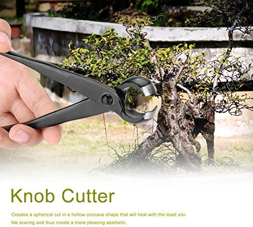 Coupeur concave - Coupeur de branche de bouton concave à bord rond pointu noir professionnel, outils de bonsaï de jardin pour le jardinage paysager 210mm / 8.27 pouces