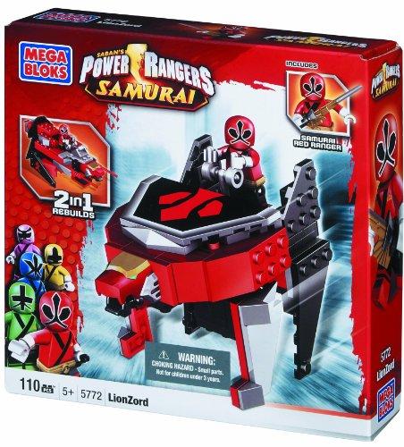 Mega Bloks Power Rangers Samurai 2 in 1 Vehicle LionZord with Samurai Red Ranger #5772 ()