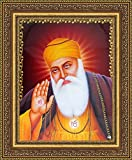 Avercart Guru Nanak Dev Ji / Gurunanak Sikh Religious Poster 8.5x11 inch with Photo Frame (21x28 cm framed)