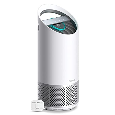 TruSens Air Purifier 360 HEPA Filtration with Dupont Filter UV Light Sterilization Kills Bacteria Germs Odor Allergens in Home Dual Airflow for Full Coverage Medium