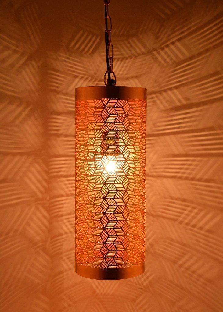Buyer Bazaar Marrakech - Lámpara de techo colgante hecha a mano en Hexa, 40 W, color cobre: Amazon.es: Iluminación