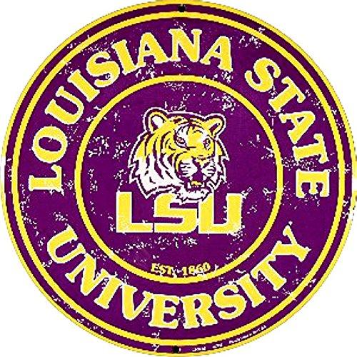 Signs 4 Fun SRCLSU Louisiana State Univ. Tiger Round