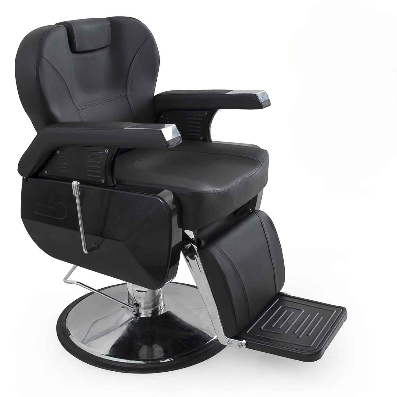 Black salon chairs - Bellavie Deluxe Hydraulic Barber Chair Beauty Shop Reclining