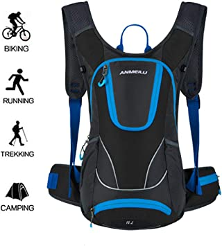 WUZHENG 12L Mochila Ciclismo Impermeable Hombres Mujeres Mochila ...
