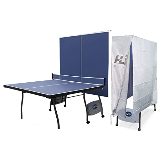 HLC 9FT Full Size Professional Folding Ping Pong Table Indoor Outdoor  Fitness Table Tennis Table With