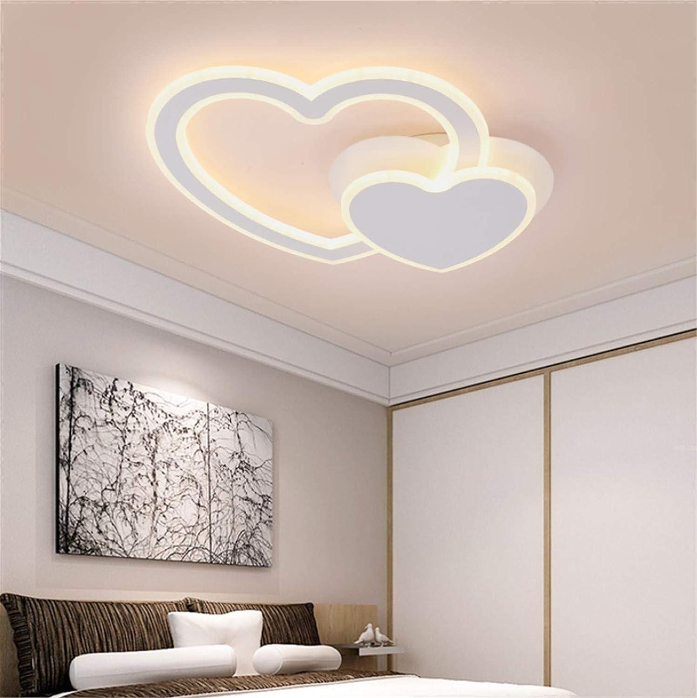 シーリングライト,クラシックハートシェイプ天井ライトベッドルームLivingroom装飾ライト3色、3色の調色 - 小さな形のハートは回転することができます B07L7RJVLF White