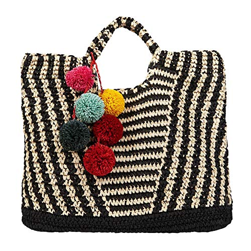 Billabong Talk To The Palm Womens Beach Bag One Size Black