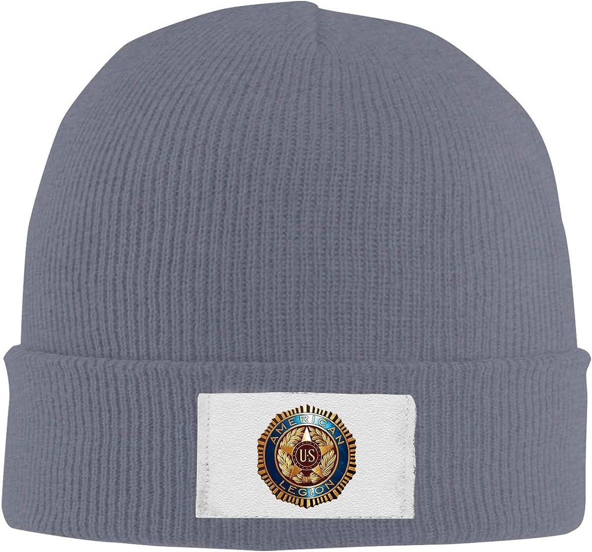 American Legion Logo Top Level Beanie Men Women Unisex Stylish Slouch Beanie Hats Black