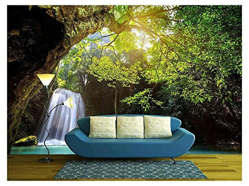 Deep Forest Waterfall in Kanchanaburi Thailand