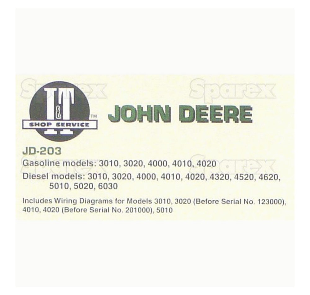 John Deere 4320 Wiring Diagram Sparex Deere203 Manual For Various Makes Industrial Scientific