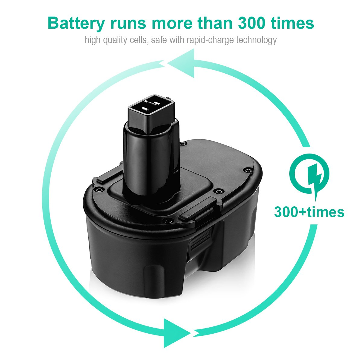 FirstPower 3.5AH 14.4V XRP Battery Replacement for Dewalt DC9091 DW9091 DW9094 DE9038 DE9091 DE9092 DEWALT Power Tool Battery DEWALT XRP DC DW DE Series ( 2 Pack ) by FirstPower (Image #5)