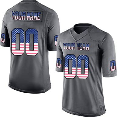 ed5950d60c9 GENPO Customized Women's Camo Anthracite Salute to Service Football Jersey  Embroidered Team Name and Your Numbers