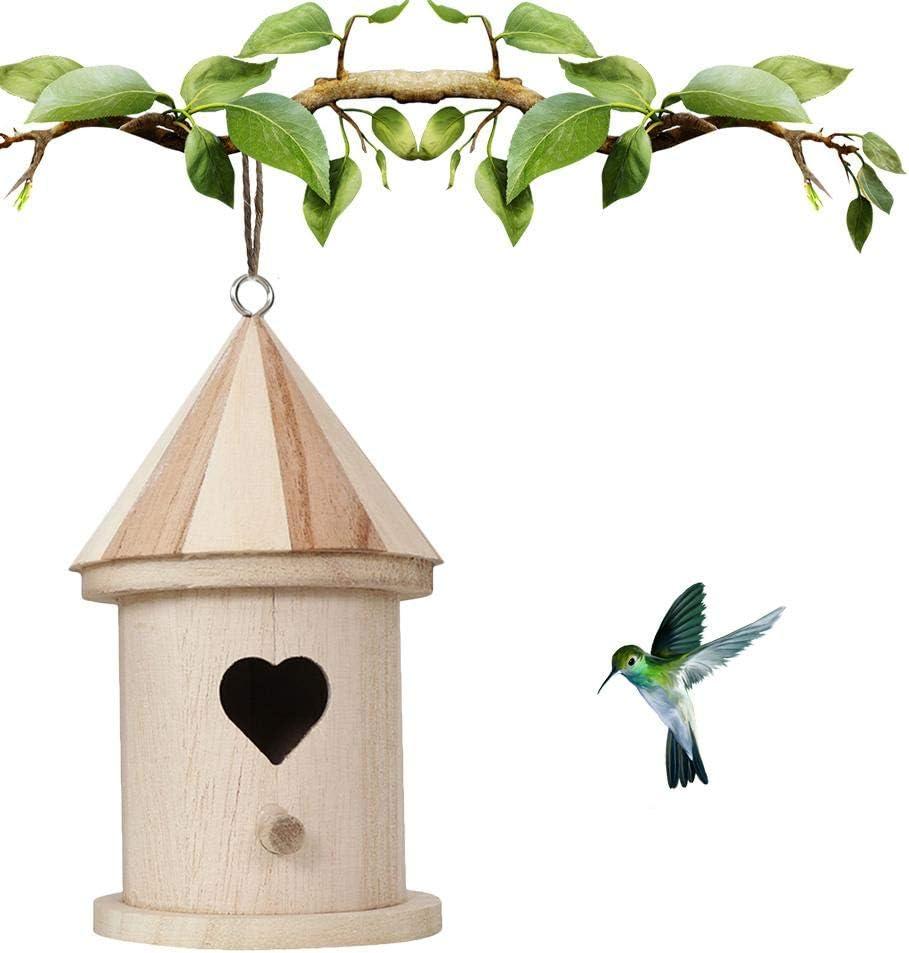 DIY Bird House, Comedero Para Pájaros Colgante De Nido De Pájaros Manualidades Para Niños Para Jardín Al Aire Libre Decoración Del Hogar Casa De Pájaros Pintada Sin Para Que Los Niños Construyan