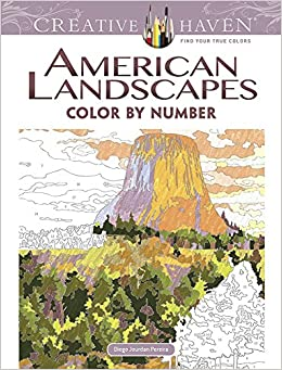 Amazon.com: Creative Haven American Landscapes Color by Number ...