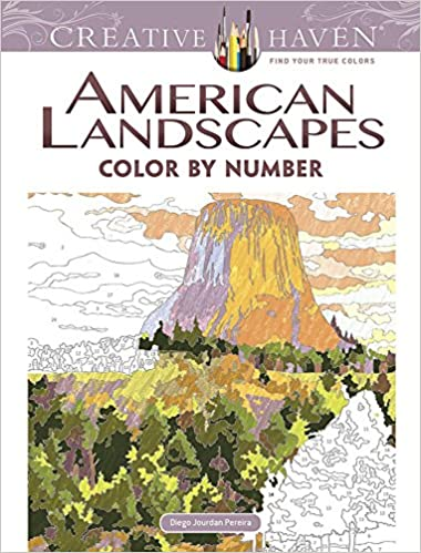 Creative Haven American Landscapes Color by Number Coloring ...