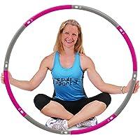 ResultSport Hula Hoop banden voor volwassenen, 1,2 kg, gewicht 100 cm breed, 8-delige afneembare, verzwaarde…
