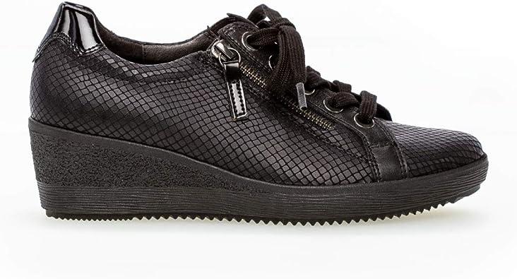 Gabor Shoes Baskets Plat pour Femme Comfort, Confortable en