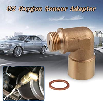Sporacingrts Angled O2 Oxygen Sensor Adapter Extender Spacer M18 x 1.5 90 Degree Bung Pipe: Automotive