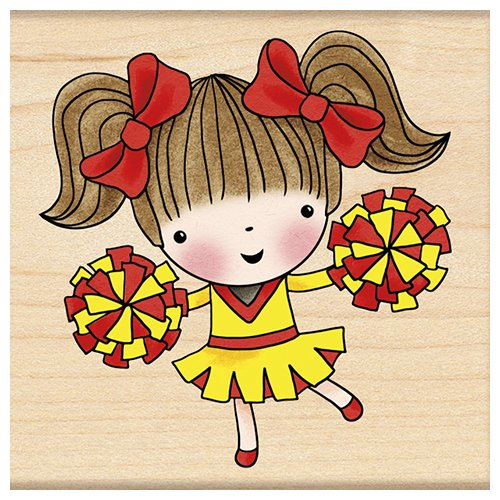 Penny Black Decorative Rubber Stamps, Cheerleading Mimi by Penny Black Inc