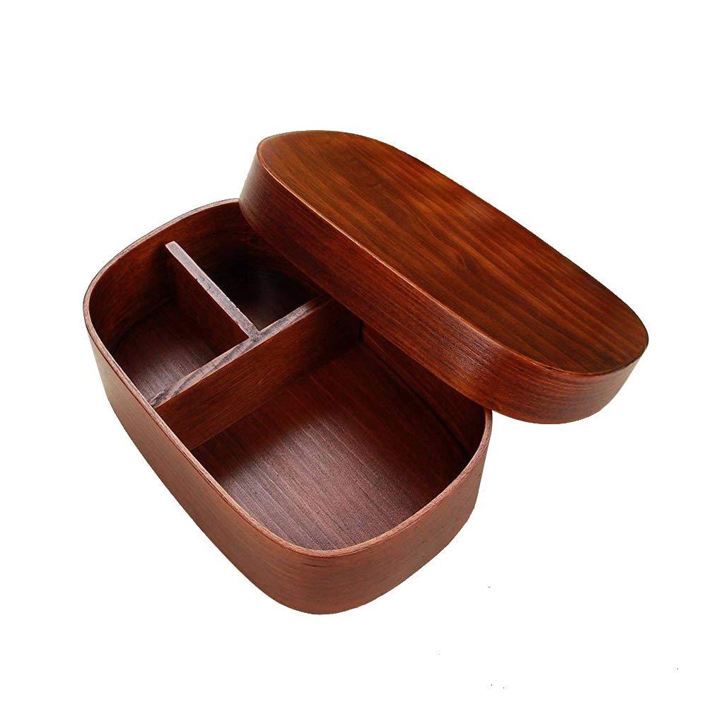 AsentechUK Japanese Style Wooden Reusable Lunch Box Bento Box Food Fruit Sushi Boxes: Amazon.es: Hogar