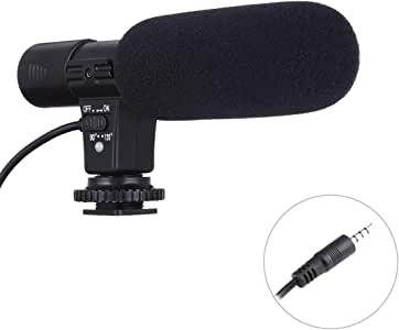 30-18000Hz Rate Sound Clear Stereo Microphone for Smartphone, Cable Length: 28cm Durable