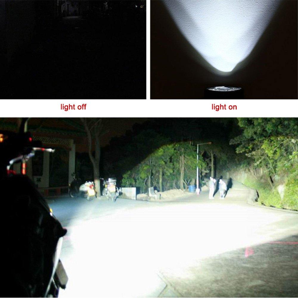 KKmoon colore nero Faro con lampada LED 12/V-80/V 20/W universale per moto E-Bike