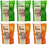 Better than foods (3 Noodle, 3 Rice) Variety pack, Vegan, Gluten-Free, Non-GMO, Konjac, Shirataki (6 pack/84oz)