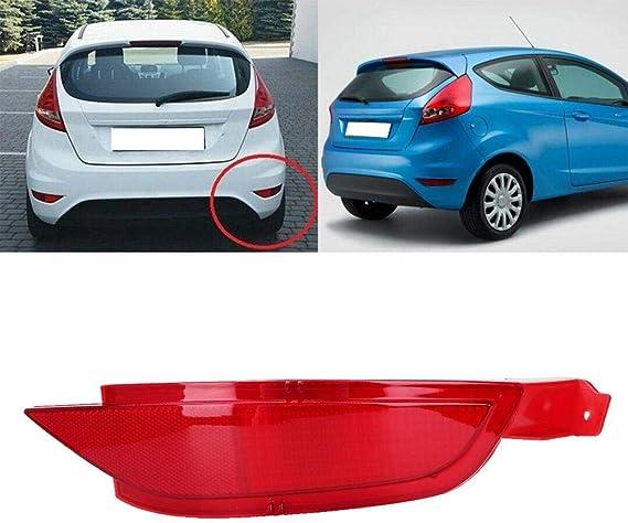 Akozon Abs Rot Stoßstange Hinten Reflektor Licht Für Fiesta Mk6 Mk7 1552730 34270 T0a A01 Auto