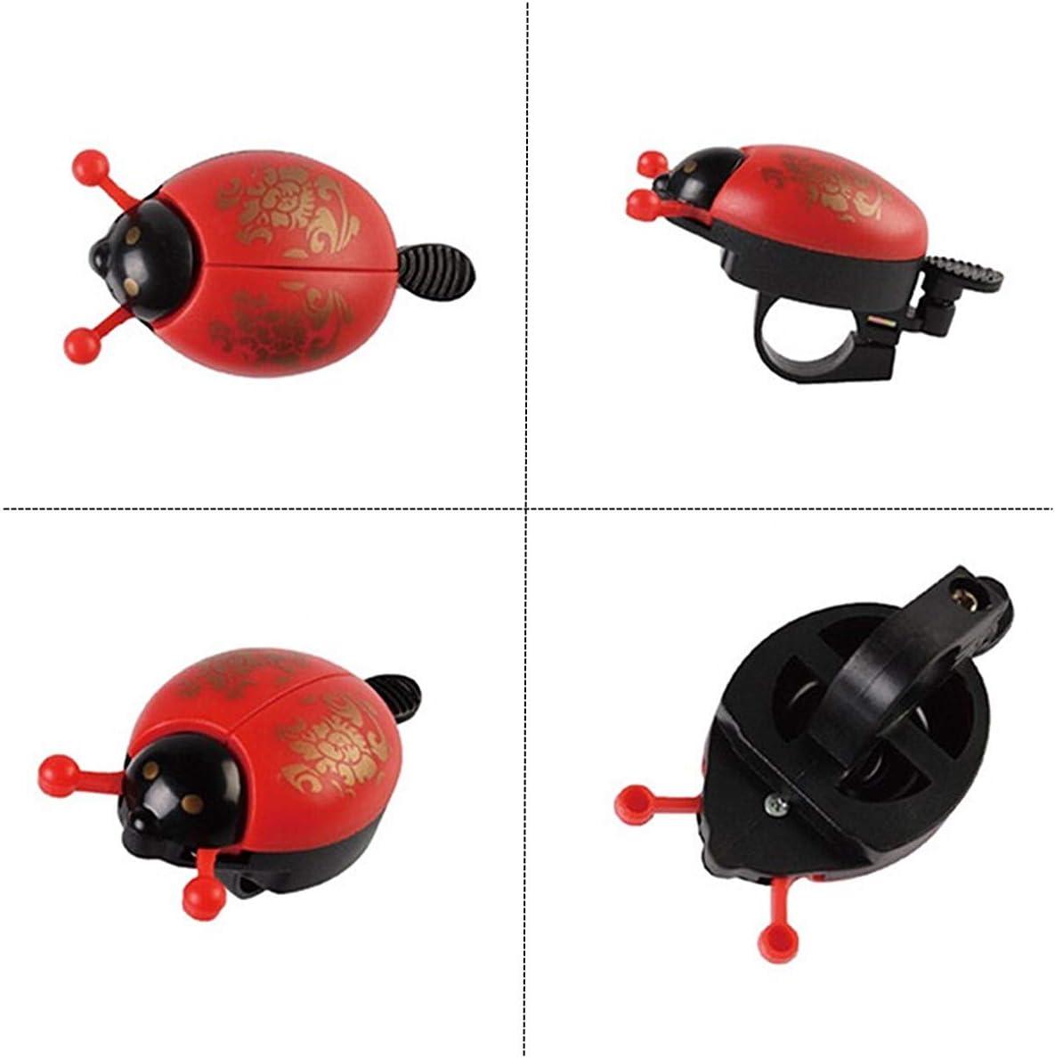 KUKU ZHEN Color Rojo Sonido Alto y Claro dise/ño de Mariquita Timbre de Bicicleta para ni/ños