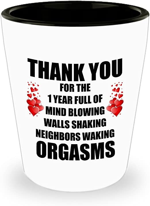 Amazon Com 1 Year Anniversary Shot Glass Gifts For Him Her 1st