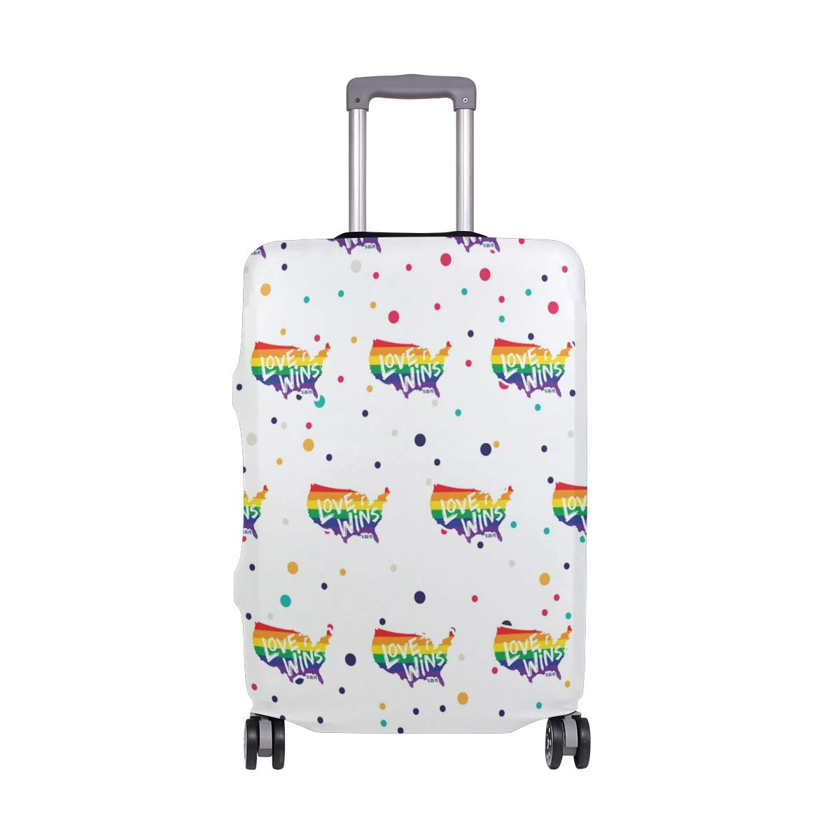 Love Wins Lgbt Travel Luggage Cover - Suitcase Protector HLive Spandex Dust Proof Covers with Zipper, Fits 18-32 inch