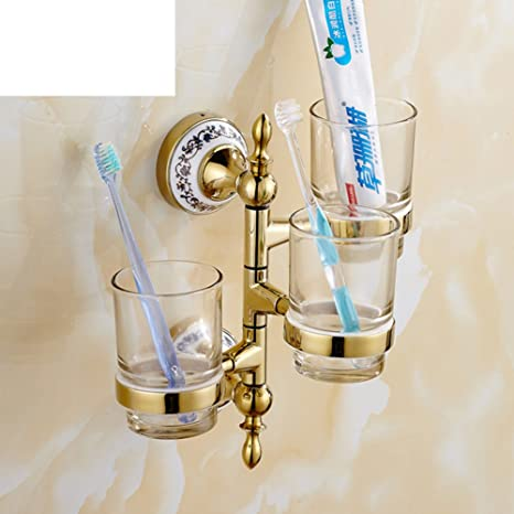 Copa Europea cepillo de dientes/Actividades giratorio rack de taza/ baño vaso Portacepillos-