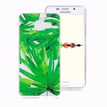 Funda Suave para Samsung Galaxy A5 2016, Ronger Carcasa Transparente Gel TPU Silicona Transparent Case Cover Funda Ultra Fino Flexible con Patrón ...