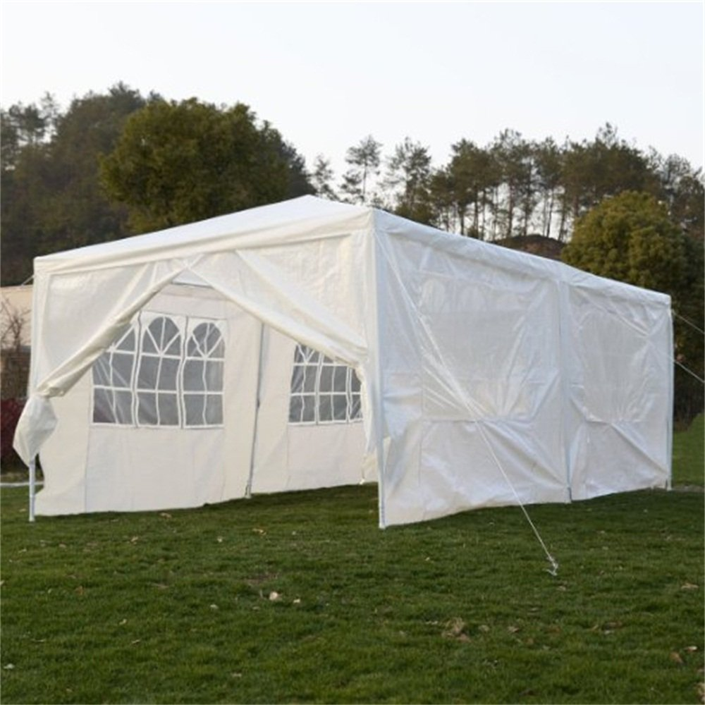 Amazon.com Qisan Canopy tent carport 10 X 20-feet Carport with sidewalls white(calm environment only) Garden u0026 Outdoor & Amazon.com: Qisan Canopy tent carport 10 X 20-feet Carport with ...
