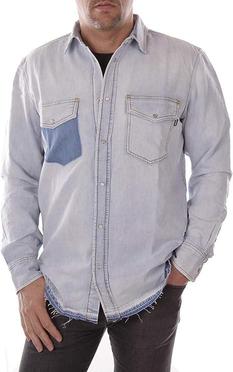 Diesel Camisa Vaquera Hombre (M, Azul): Amazon.es: Ropa y accesorios