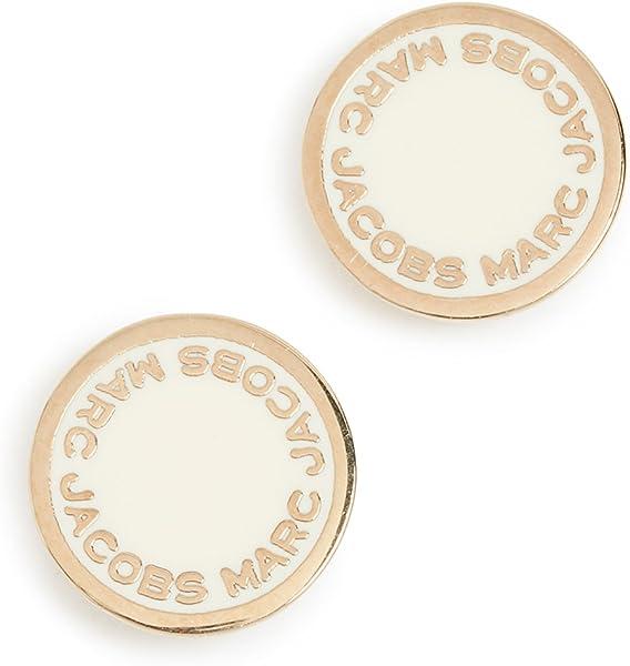 e6933329d04a Marc Jacobs Women's Enamel Logo Disc Stud Earrings, Cream, One Size