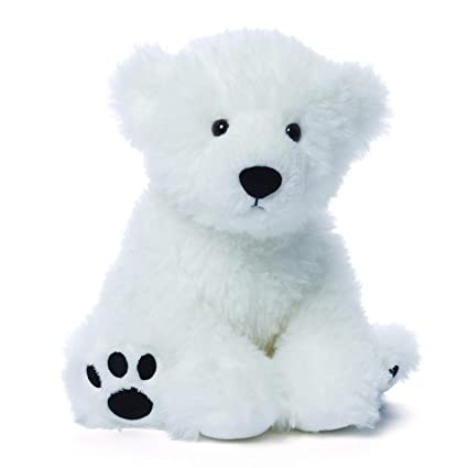 Amazon Com Gund Fresco Polar Teddy Bear Stuffed Animal Plush White