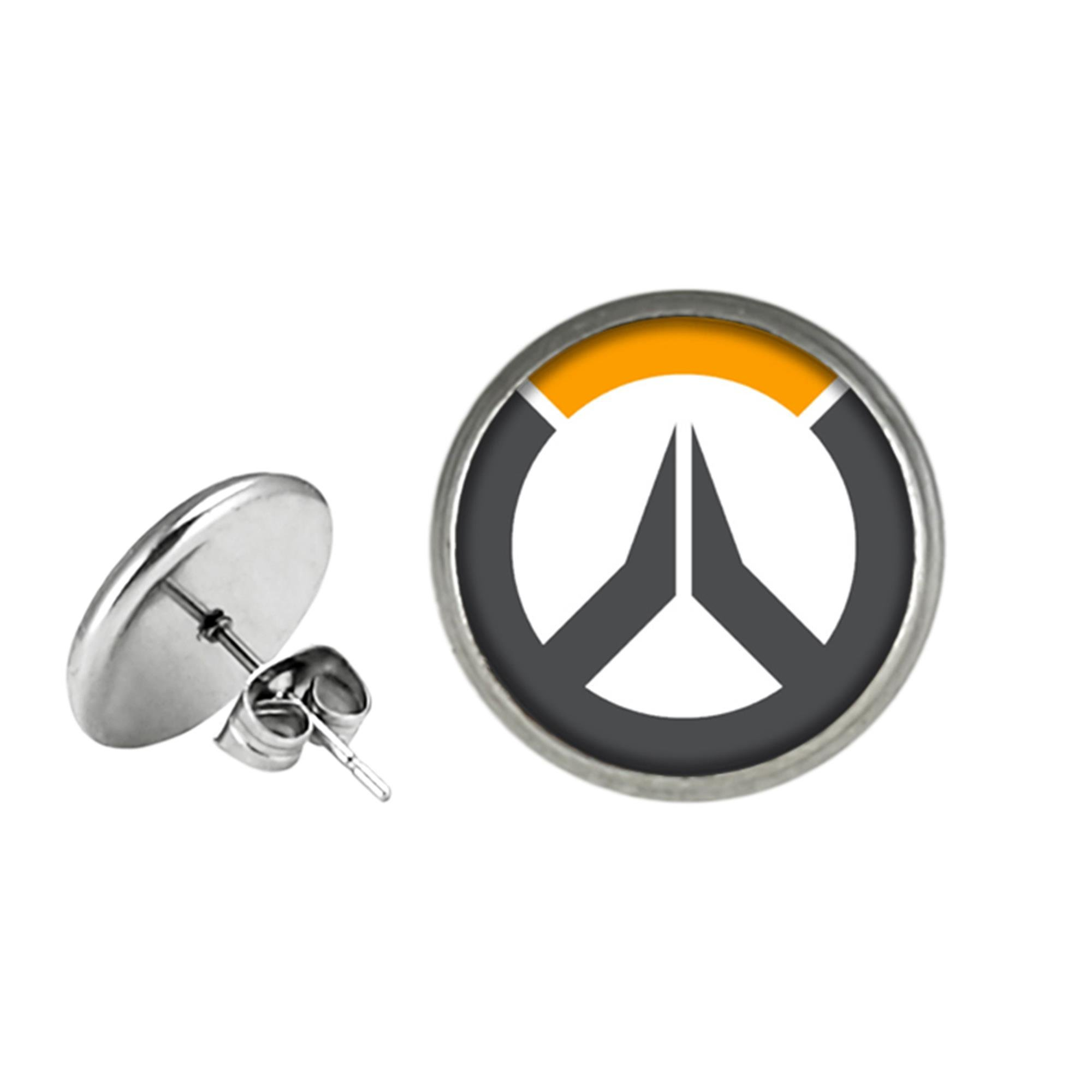 Overwatch Post Stud Earrings Character Cartoon Superhero Gaming Console PC Games Logo Theme Cosplay Premium Quality Detailed Jewelry Gift Series
