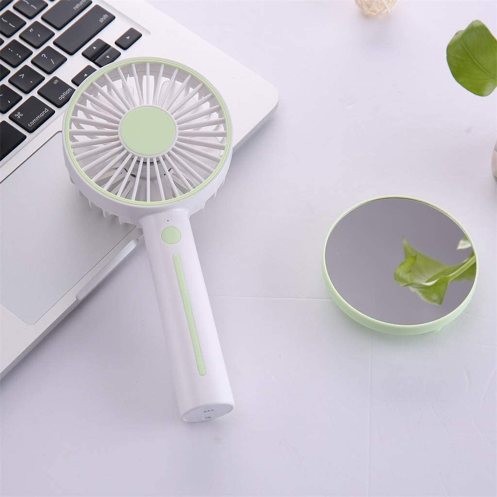 Elaco Handheld Rechargeable Fan Creative Desktop Mini Portable USB Small Cooling Fan